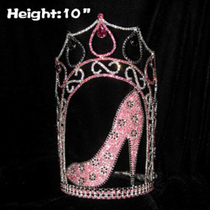 10inch Rhinestone High Heel Shoe Pageant Crowns