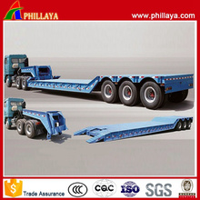 Heavy Duty Machine Transport Lowbed Semi Trailer Goose Neck Detachable