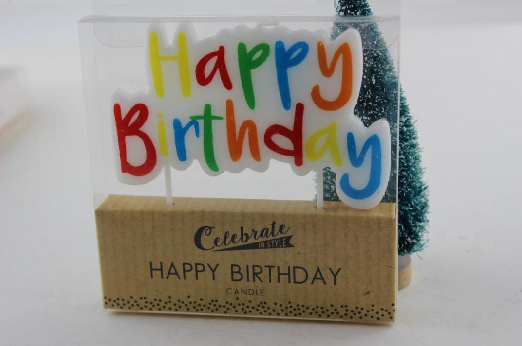 Letter birthday candle