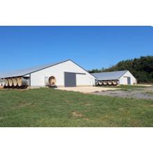 Casa prefabricada de aves de corral con estructura de acero ligero (SPT001)