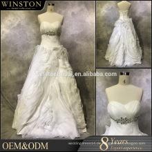 Hochwertiges ein Zeilen-Hochzeitskleid abnehmbarer Rock