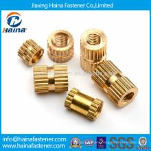 Brass material knurled insert nut/threaded insert/knurled nut