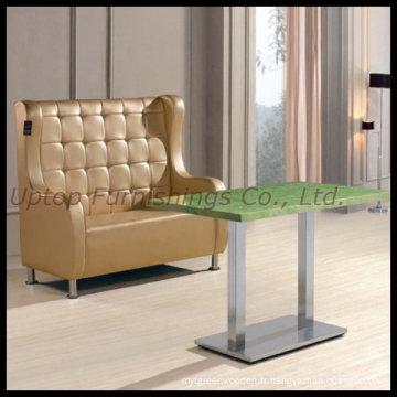 Canapé de restaurant en cuir rembourré sur mesure (SP-KS155)