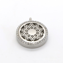 25mm 30mm Round Shape Stainless Steel Essential Oil Diffusser Locket Pendent