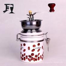 Manual Coffee Grinders Food Grade with Ceramic Power Storage Jar