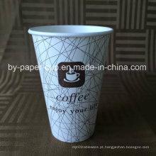 Descartável personalizado de copos de papel de café em alta qualidade