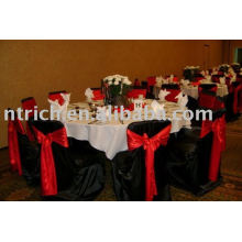 100%polyester chair covers, Hotel/Banquet chair cover, Red satin sash