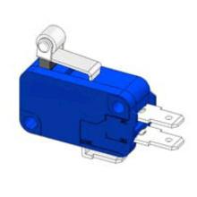 Interruptor Micro azul Lxw16