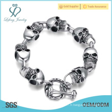 Bracelet nommé gravé à la mode, bracelet marque, bracelet en argent sterling