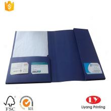 Carpeta de archivos con soporte para tarjetas de visita
