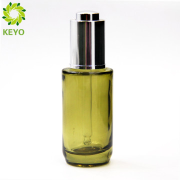 15ml 30ml green color glass dropper bottle rich glass dropper bottle with label for essential oil