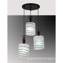 3 lights glass pendant light for dining room lighting