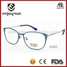 Dame véritable en titane en métal plein cadre lunettes optique avec logo OEM