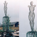 Art sculpture décoration en acier inoxydable en métal sculpture