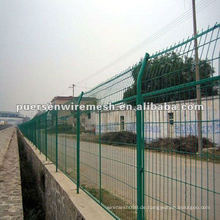 Grüne PVC-beschichtete geschweißte Draht-Mesh-Zaun-Herstellung