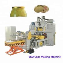 Línea de producción de fabricación de tapas de botellas de vidrio para alimentos enlatados con 82 tapas SKO más vendidas