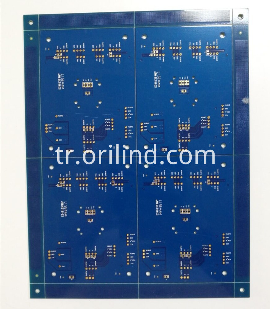 Bule colour circuit board