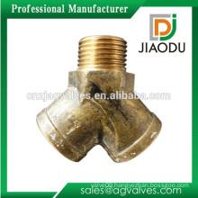 JD1101 Brass Female Y Equal Tee