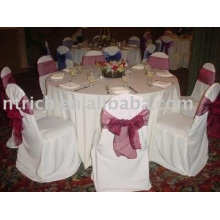 100% polyester chair covers, hotel/banquet chair covers,organza sashes