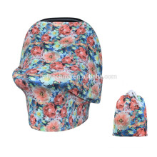 Amazon Hot sale pattern Baby Car Seat Cover Canopy shopping cart cover nursing cover
