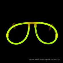 Gafas de palo de resplandor amarillo