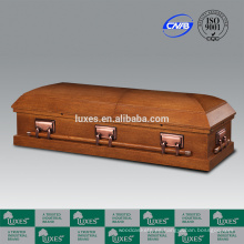 LUXES alta ataúd estándar de madera estilo americano MDF ataúd