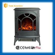 Calentador eléctrico de chimenea de madera con registro de imitación para la decoración del hogar