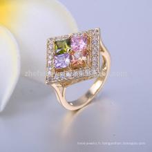 bagues bijoux en laiton argent plaqué or vermeil pave ring