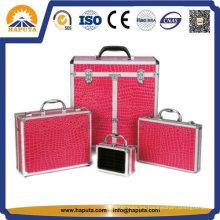 Caja de tren de maquillaje cosmético de aluminio personalizado (HB-1320)