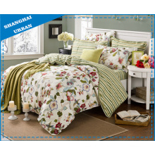 Flower Stripe Bedding Set Duvet Cover