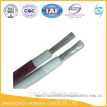 Câble / fil résistant à la chaleur en caoutchouc de silicone de tresse de fibre de l'UL 3122