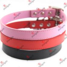 Venta al por mayor colorido PU llano collar de cuero Collares baratos (PC15121414)