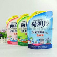 2016 China Lieferant und Größe angepasst Standbeutel mit Auslauf für Reinigungsmittel