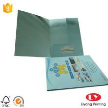 एक पॉकेट डिजाइन के साथ पूर्ण रंग कागज फ़ोल्डर