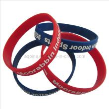 Bracelete de Silicone de cores com logotipo impresso