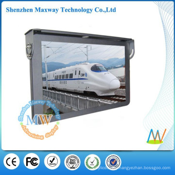 Top mounting 19 inch LCD media player bus