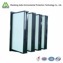 ABS plastic V bank HEPA filter
