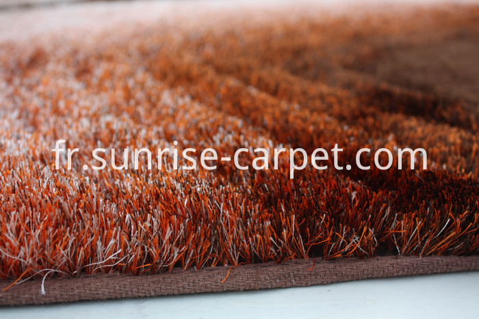 Thin Polyester Shaggy Rug with 3D Design
