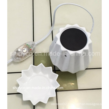 Electric Translucent LED Light Candle Warmer with Temperature Adjustment