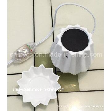 Aquecedor elétrico translúcido da vela da luz do diodo emissor de luz com ajuste da temperatura