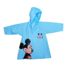 Blue Kids Hooded Pvc Rainwear