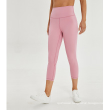 High Waist Compression ¾ Length Pocket Leggings