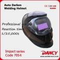Auto darkening arc welding helmet