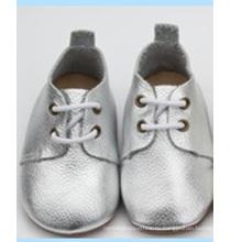 Последняя детская неподдельная кожа мягкая единственная случайная prewalker oxford shoes