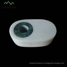 Candelero de mármol blanco de carrara de diseño de moda