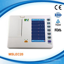 Cardiograph 6-channel EKG/ECG Machine/Electrocardiograph ECG Machine (MSLEC20)
