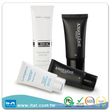 Tubo de mangueira cosmética de plástico oval vazio de amostra livre para loção corporal de limpeza facial