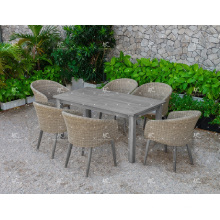 Splendid Hot Design Synthetic Poly Rattan Coffee and Dining Set For Outdoor Garden Patio Wicker Furniture