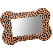 Marco de la foto del cuero de la impresión del leopardo para el regalo