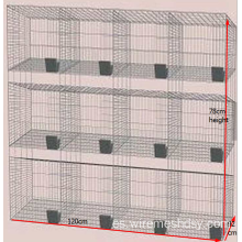 Barato Rabbit Farming Cage, Industrial Cage for Rabbit, Commercial rabbit jaula en granja